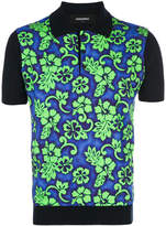 DSQUARED2 Hawaiian print polo shirt