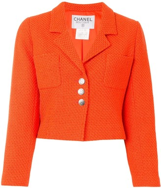 Chanel Pre Owned 1997 Single-Breasted Cropped Jacket