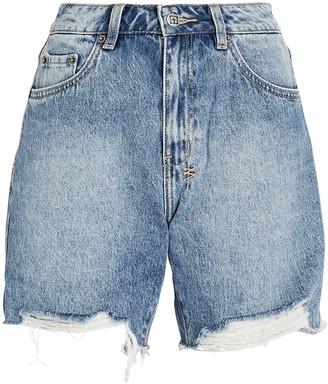 Ksubi Racer Cut-Off Denim Shorts