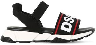 DSQUARED2 Logo Printed Strap Sandals