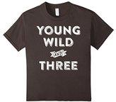 Kids 3rd Birthday Shirt Boy - Young Wild And Three T-Shirt