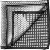 Aspinal Of London Shield Pattern Pocket Square