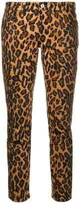 Miu Miu Leopard Print Skinny Jeans