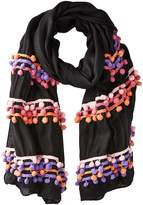 Bindya Three Layer Pom Pom Scarf