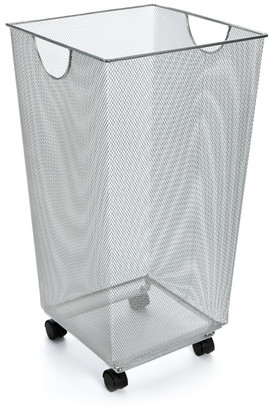 Container Store Silver Mesh Handy Bin with Wheels
