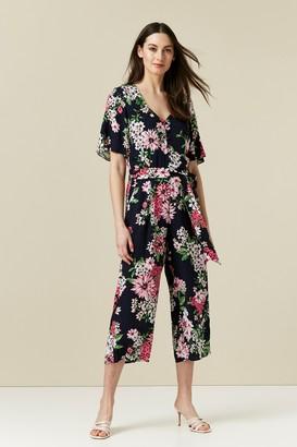 Wallis Navy Floral Print Jumpsuit