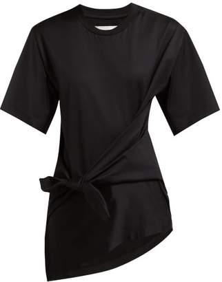 Marques Almeida Marques'almeida - Knot Front Cotton Jersey T Shirt - Womens - Black