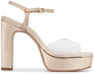 Schutz Metallic 120mm Platform Sandals
