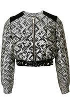Matthew Williamson Maze Silk Jacquard Bomber Jacket