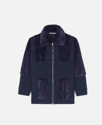 Stella McCartney FUR FREE FUR Knit Jacket, Women's