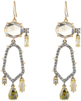 Alexis Bittar Crystal Encrusted Dangling Honeycomb Earring