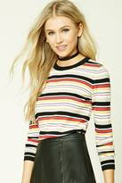 Forever 21 FOREVER 21+ Striped Crew Neck Sweater