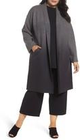 Eileen Fisher Plus Size Women's Ombre Wool Kimono Coat