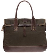 Will Leather Goods Men's 'Zig Zag Lookout' Briefcase - Green