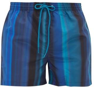 Paul Smith Gradient-stripe Swim Shorts - Mens - Blue Multi