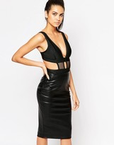 Wow Couture Mesh Insert Cut Out Body