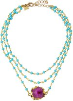 Panacea Triple-Strand Beaded Crystal Station Necklace