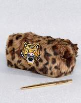 Skinnydip Fluffy Tiger Pencil Case