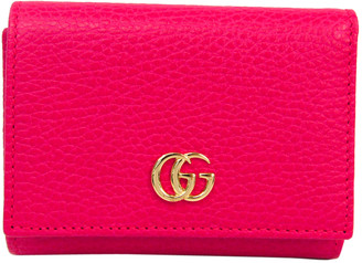 Gucci Pink GG Marmont Leather Wallet