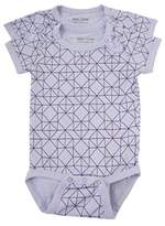 Melton Baby Girls' Numbers, Jersey-Kurzarmbody Aop Bodysuit,6-9 Months pack of 2