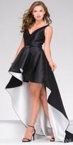 Jovani V-Shape Scoop Back High Low Evening Dress