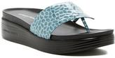 Donald J Pliner Fifi Pebbled Low Wedge Sandal