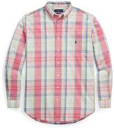 Big & Tall Polo Ralph Lauren Classic Fit Plaid Cotton Shirt
