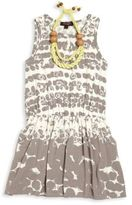 Imoga Toddler's, Little Girl's & Girl's Printed Jersey Ikat Dress & Necklace Set