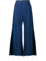 Chloé acid wash flared jeans