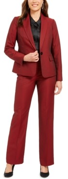 Le Suit Single-Button Straight-Leg Pants Suit