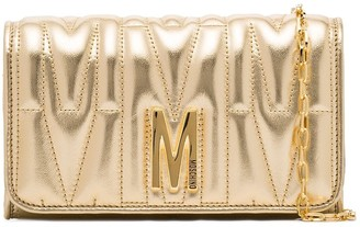 Moschino quilted leather clutch bag