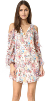 Haute Hippie Flowers in the Sun Cold Shoulder Dress