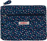 Cath Kidston Scattered Spot Quilted Heart Double Zip Purse