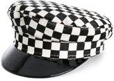 Manokhi checked sailor hat