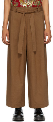 Naked & Famous Denim Denim SSENSE Exclusive Brown Wide Trousers