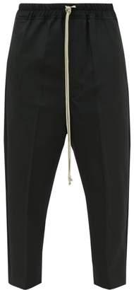Rick Owens Drawstring-waist Cropped Trousers - Womens - Black