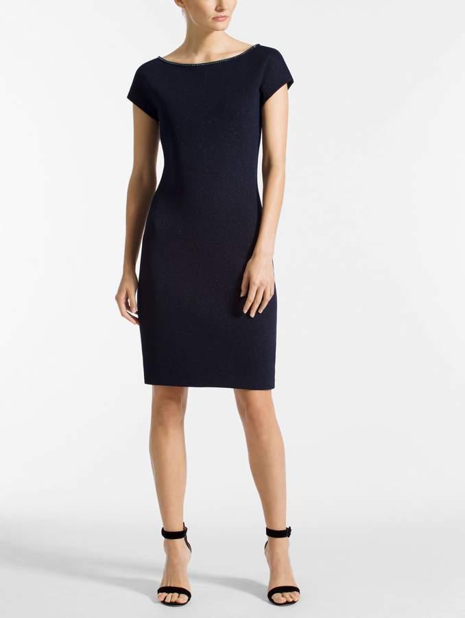 St. John Mod Metallic Knit Dress