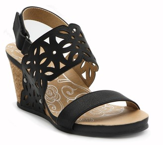 Mootsies Tootsies Laser Cut Two Banded Cork Wedges - Tania