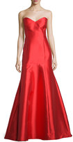 Erin Fetherston Majesty Sweetheart-Neck Mermaid Gown, Vermillion