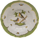 Herend Rothschild Bird Green Motif 08 Rim Soup Bowl