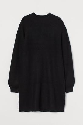 H&M Rib-knit Dress - Black