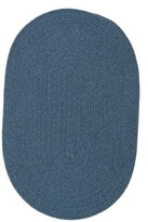 Colonial Mills Handmade Braided Federal Blue Area Rug Rug Size: Oval 8' x 10'