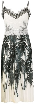 Ermanno Scervino Silk Pleated Midi Dress