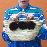 Bohemia Mini Pom Pom Market Basket