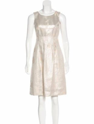 Lela Rose Sleeveless Knee-Length Dress Champagne