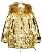 Diadora faux fur hooded coat