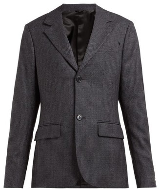 Raf Simons Single-breasted Houndstooth Wool Blazer - Grey Multi