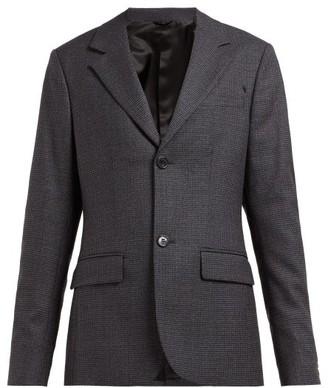 Raf Simons Single-breasted Houndstooth Wool Blazer - Womens - Grey Multi