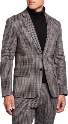 Scotch & Soda Men's Check Single Breasted Knit Blazer