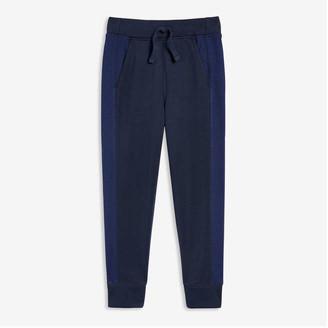 Joe Fresh Kid Boys' Mesh Stripe Active Pants, Navy (Size L)